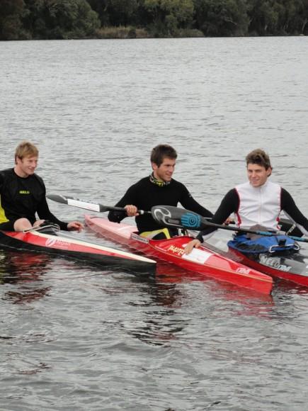 Die CH-Jungs Stefan Domeisen, ich und Christophe Nicolet